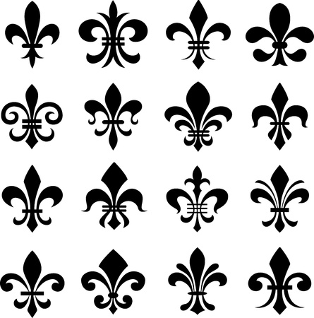 new orleans: classic fleur de lys symbol set