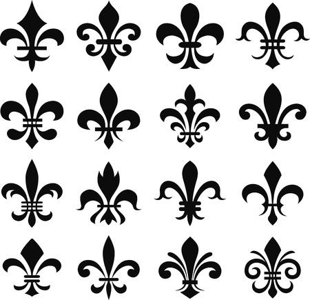 lys: classic fleur de lys symbol set