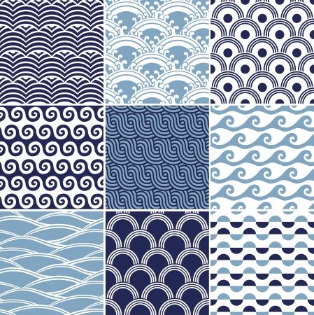 seamless ocean wave pattern  Stock Vector - 16962752