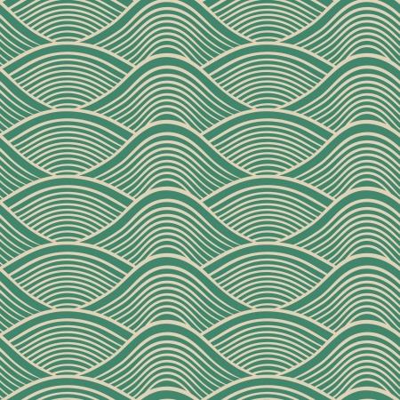 japanese seamless ocean wave pattern  Vector