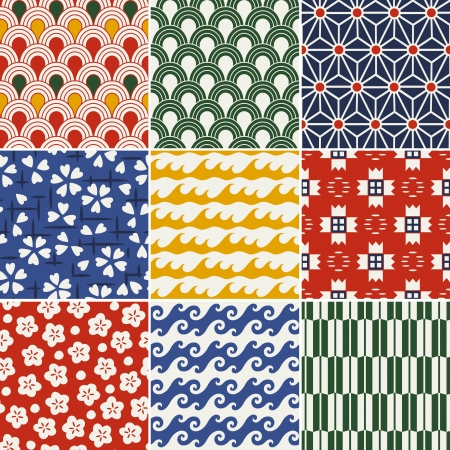 seamless japanese kimono pattern