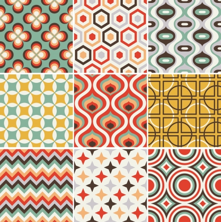 naadloze retro patroon