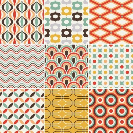 seamless retro pattern Stock Vector - 17083421