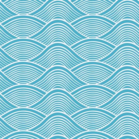 Japanse naadloze oceaan golfpatroon