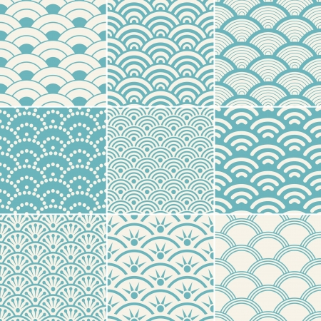 wave pattern: seamless ocean wave pattern