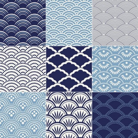 seamless ocean wave pattern Stock Vector - 17176500