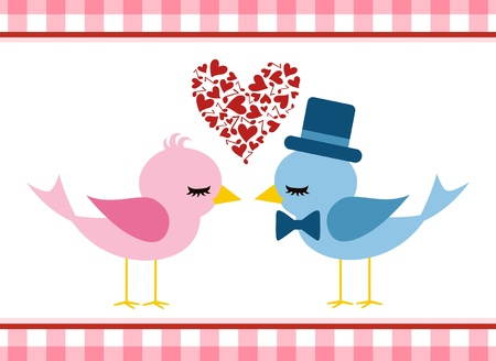 Love bird - Valentine s day  Vector