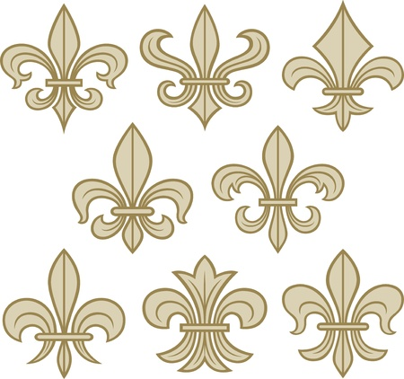 lis: fleur de lis scroll antique
