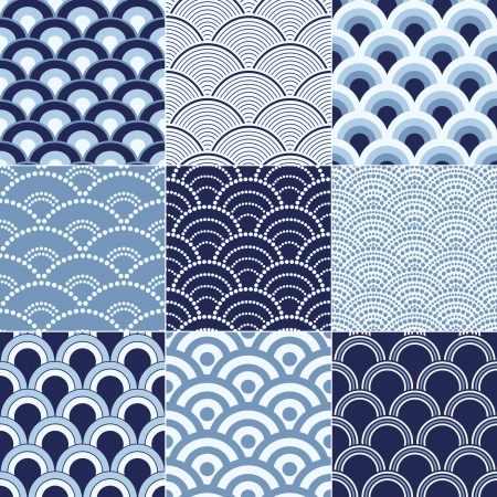 seamless ocean wave pattern Vector