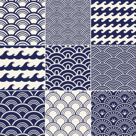 rippled: seamless ocean wave pattern