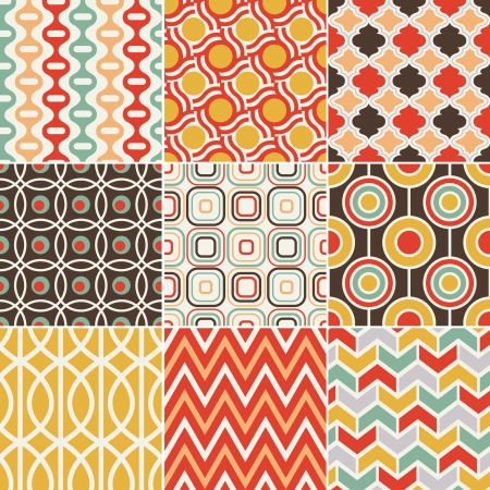 seamless retro vintage pattern Vector
