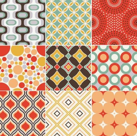 �textile: seamless pattern retro vintage