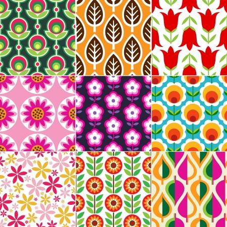 nostalgia: seamless retro flower pattern  Illustration
