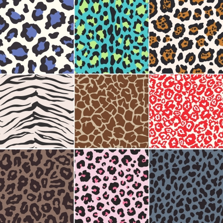 seamless animal skin fabric pattern texture  Stock Vector - 17800272