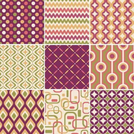 vintage background pattern: retro seamless pattern  Illustration
