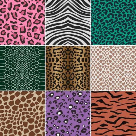 seamless animal skin fabric pattern texture  Vector