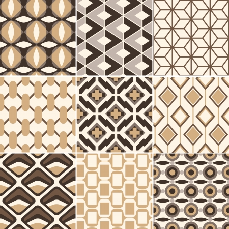 seamless gold geometric retro pattern  Stock Vector - 17969111