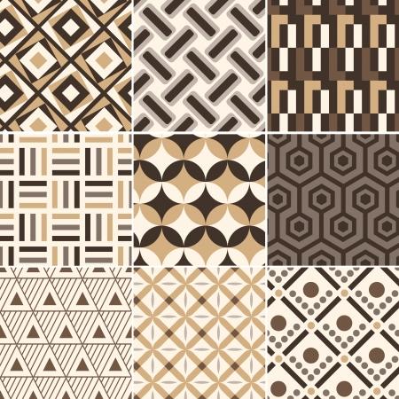 seamless gold geometric retro pattern  Stock Vector - 17969108