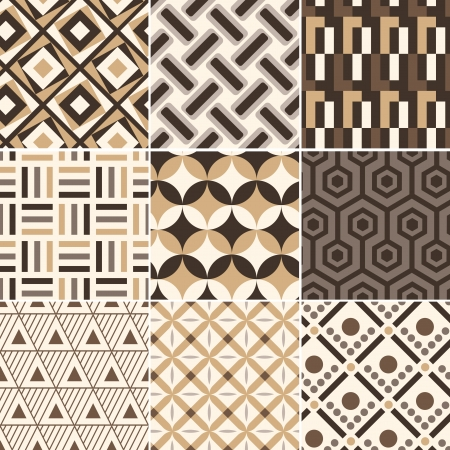 seamless gold geometric retro pattern Stock Vector - 17969108