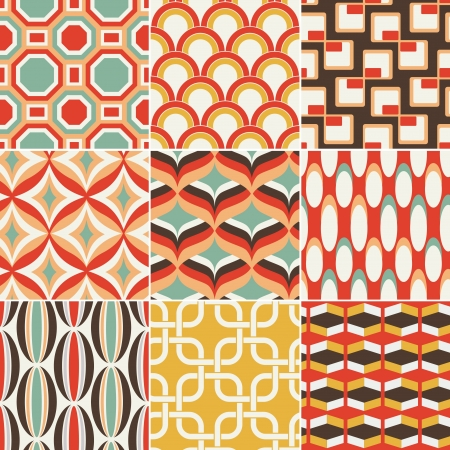 70's: seamless retro colourful geometric pattern Illustration