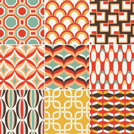 70s: seamless retro colourful geometric pattern Illustration