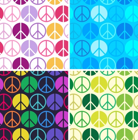 abstract symbolism: peace symbol seamless pattern Illustration