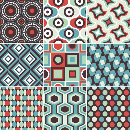 seamless geometric background pattern in vintage colour Stock Vector - 18570264