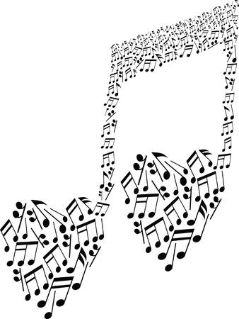 abstract music: creatieve muzieknoten Stock Illustratie