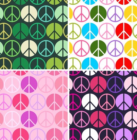anti war: peace symbol seamless pattern  Illustration