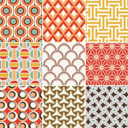 seamless retro pattern Stock Vector - 19123123