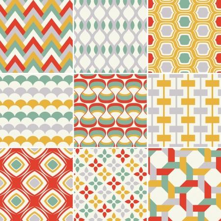 geometria: patr�n geom�trico abstracto incons�til retro