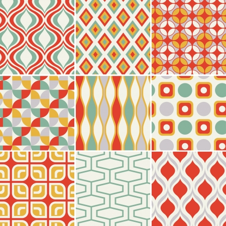 retro seamless abstract geometric pattern  Stock Vector - 19604733