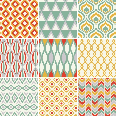 retro seamless abstract geometric pattern  Illustration
