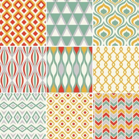 retro seamless abstract geometric pattern Stock Vector - 19604734