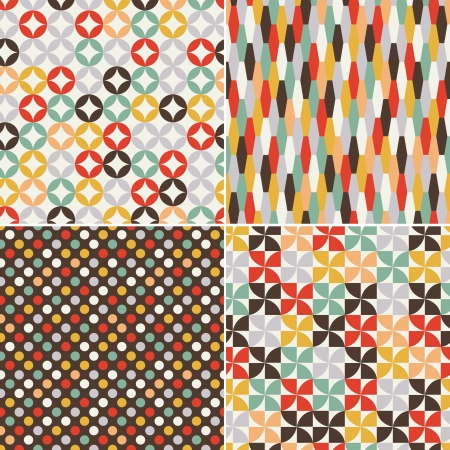retro seamless abstract geometric pattern Stock Vector - 19604731