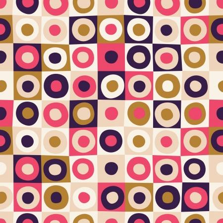 70s: seamless circle pattern Illustration