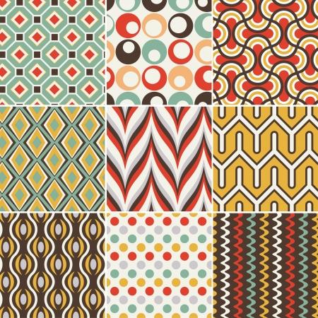 siebziger jahre: nahtlose Retro geometrisches Muster