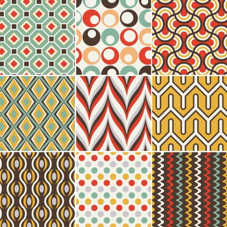 seamless retro geometric pattern Stock Vector - 19604736