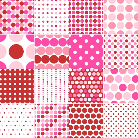 round dot: seamless polka dots print  Illustration