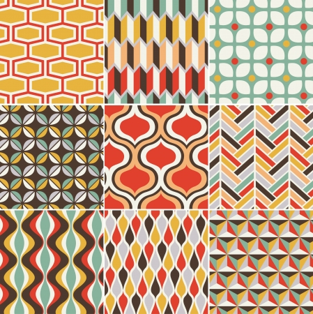 repeated: seamless retro pattern