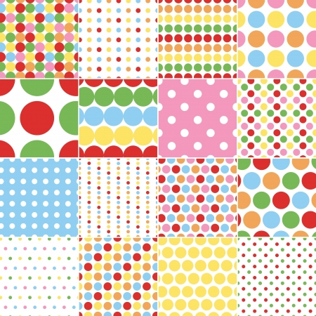 seamless retro dot pattern print  Vector