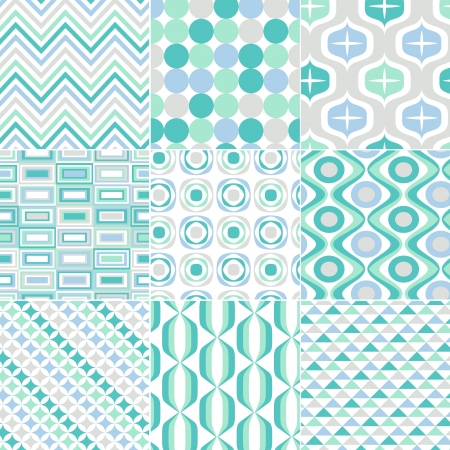 zag: seamless retro pattern print