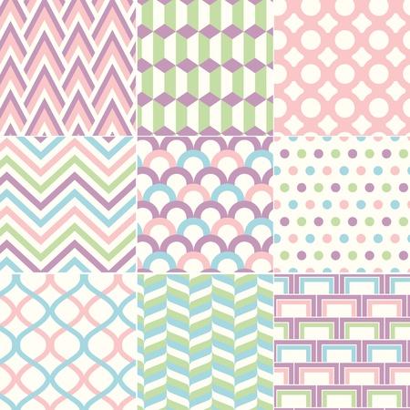fondos colores pastel: Seamless Retro Pattern Imprimir