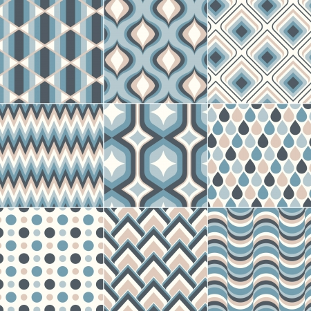 teal blue pastel color pattern  Vector