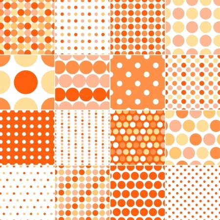 seamless retro dot pattern print  Vector