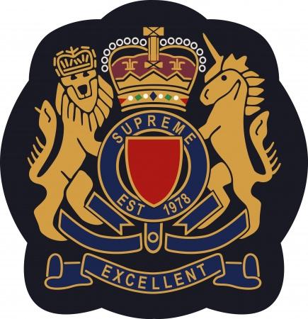 royal emblem badge shield  Illustration