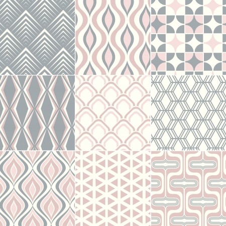 repeated: seamless retro pattern print