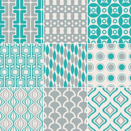 trendy shape: seamless retro pattern print