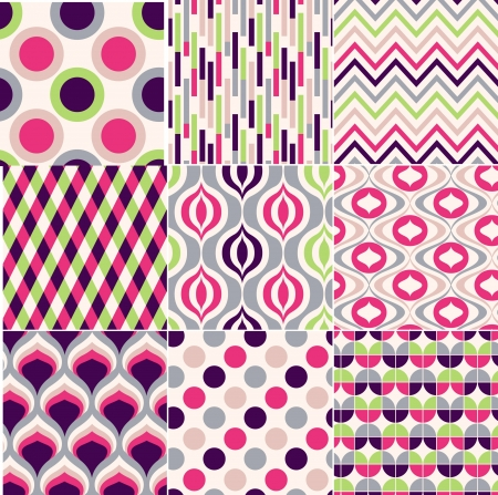 seamless retro pattern print Stock Vector - 20273282