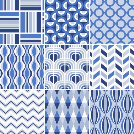 pale colour: seamless retro pattern print